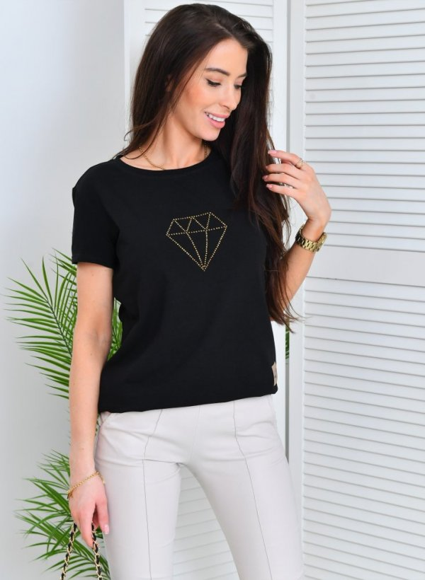 T-shirt Diamond czarny