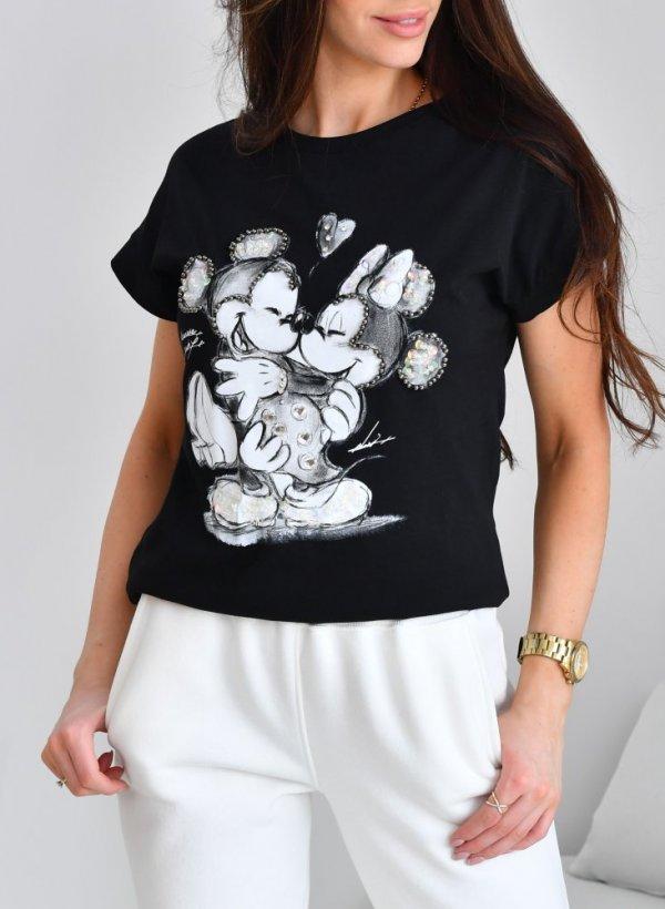 T-shirt Myszki koraliki czarny