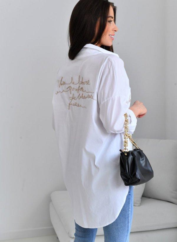 Koszula Rocca Letters biała