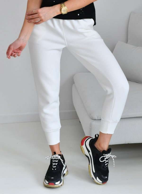 Spodnie dresowe Laval krem