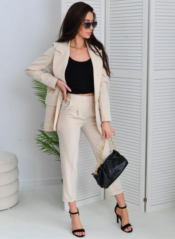 Spodnie eleganckie Marlla beż