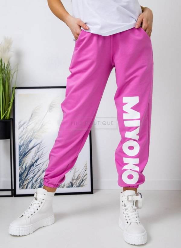 Spodnie dresowe MIYOKO róż