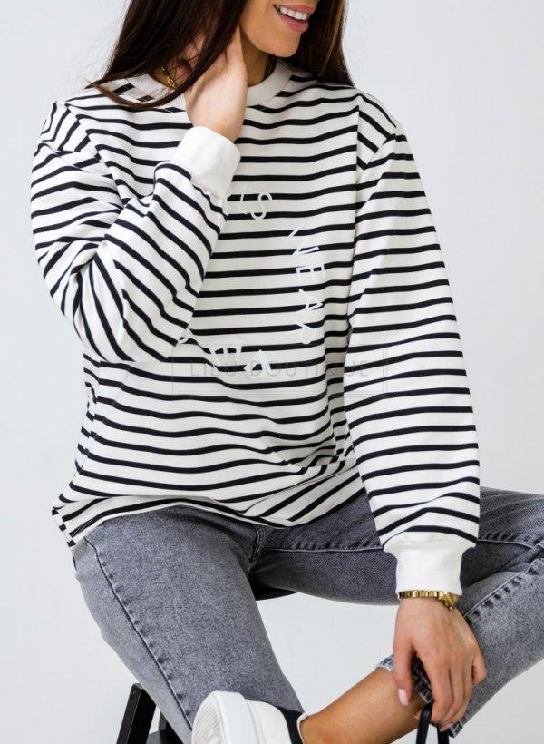 Bluza w paski Cool Girls black/cream