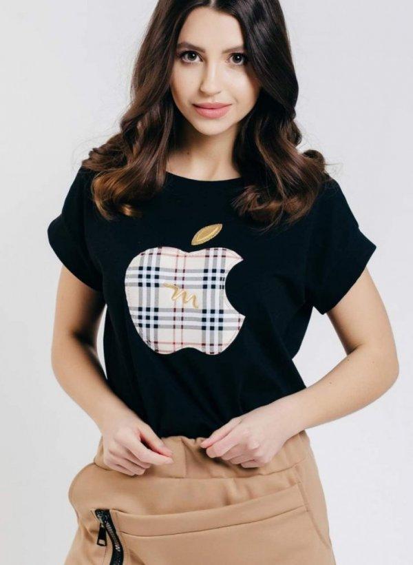 T-shirt/bluzka Apple czarna