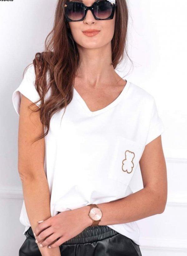T-shirt Tou Bear biała