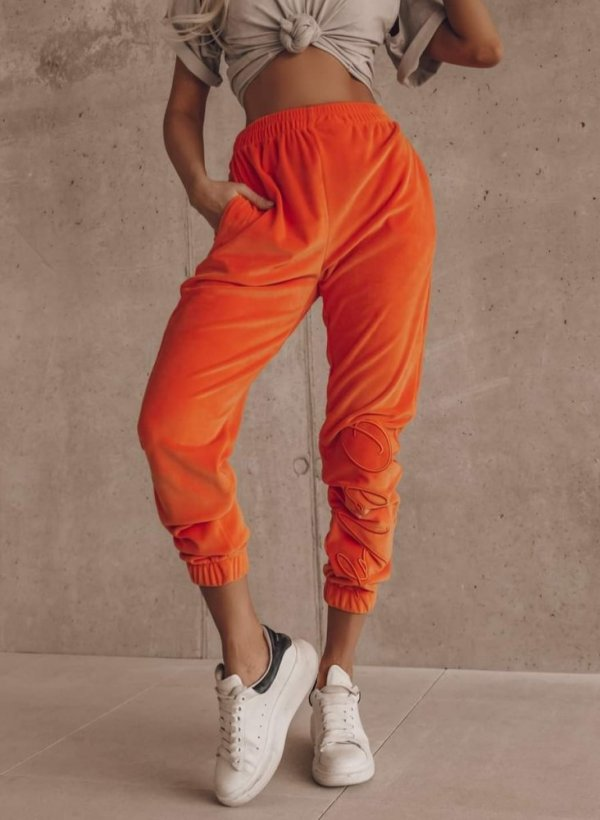 Spodnie Vallo welurowe orange