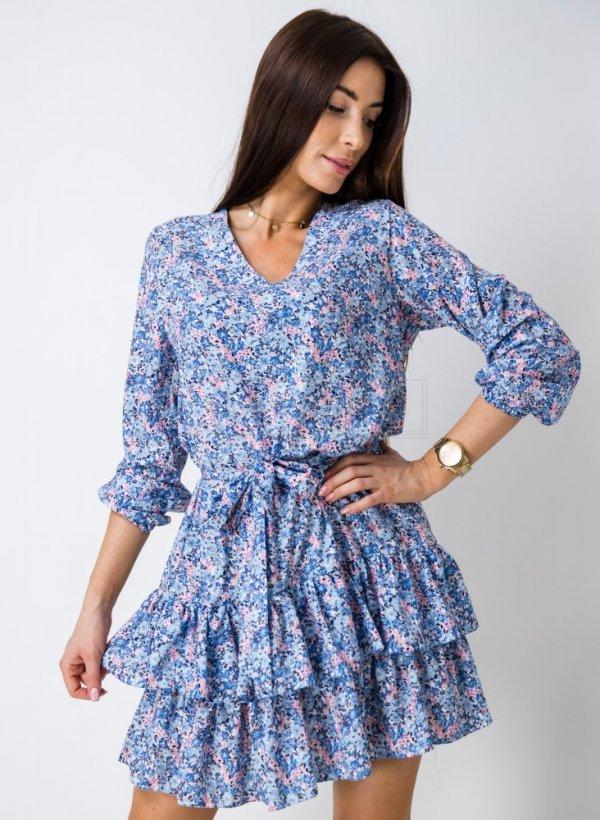 Sukienka Rosse w kwiatki multicolor