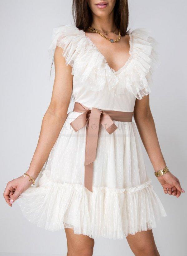 Sukienka tiulowa Lora ecru