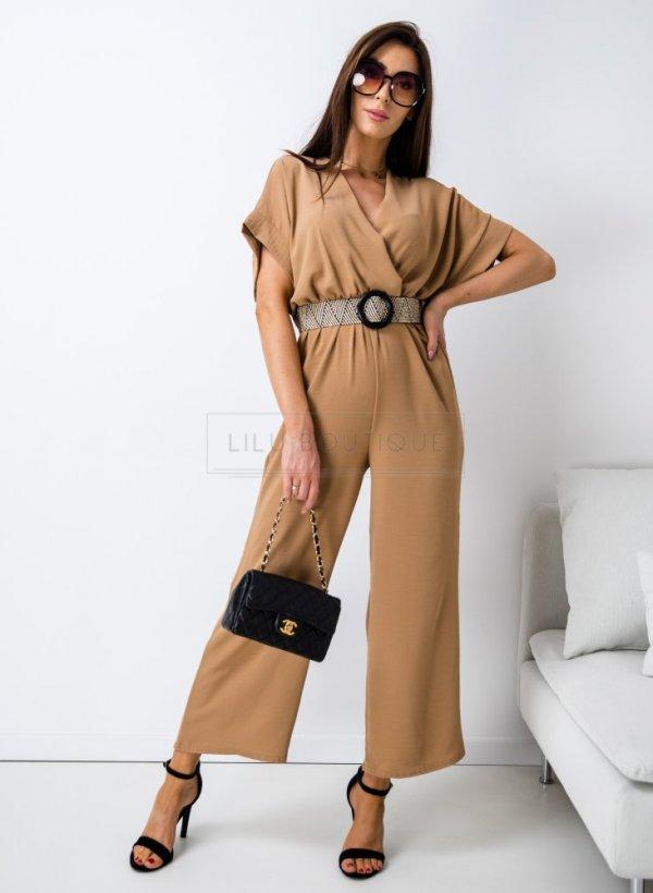Kombinezon z szerokimi nogawkami Avola camel