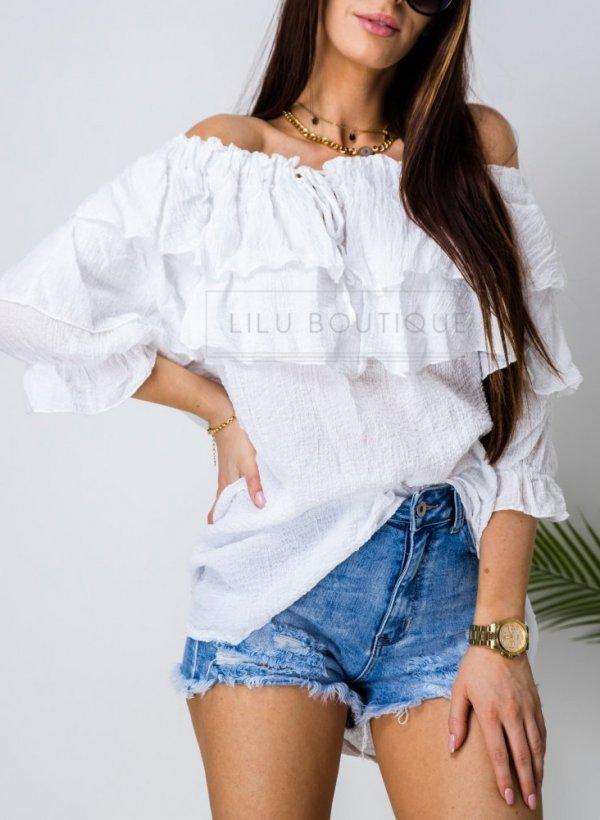 Bluzka hiszpanka Terme biała