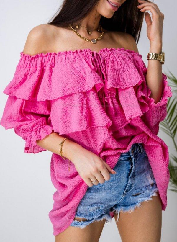 Bluzka hiszpanka Terme róż