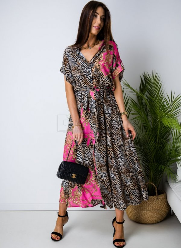 Sukienka tiger print Capri pink