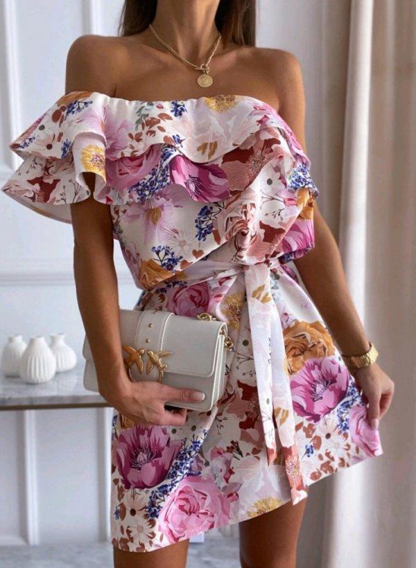 Sukienka hiszpanka w kwiaty Loara