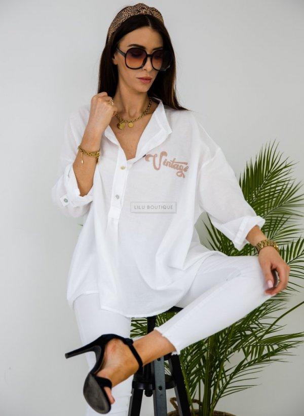 Koszula oversize Magnola biała