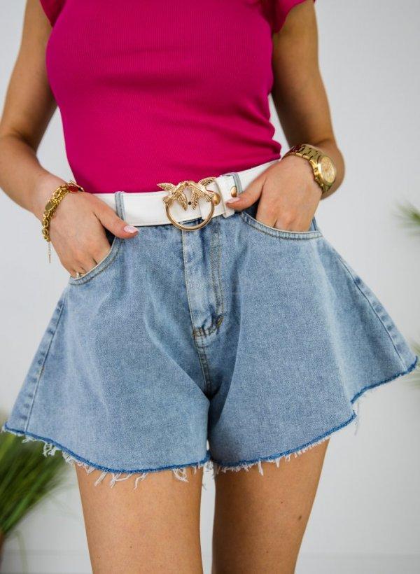 Spodenki jeansowe jak spódniczka Fully light blue