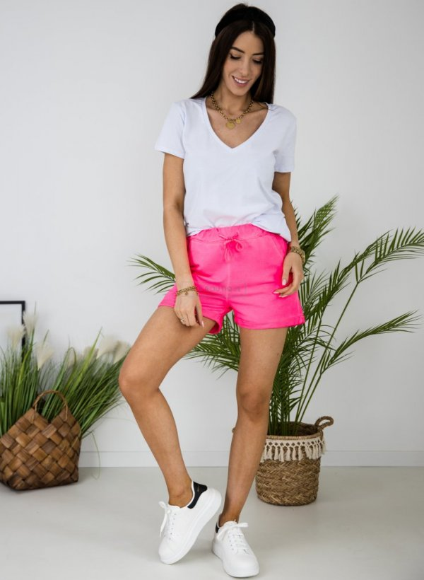 Spodenki dresowe Yolo neon pink