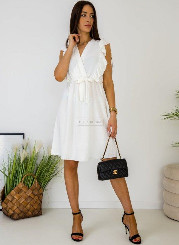 Sukienka wiązana Arise biała