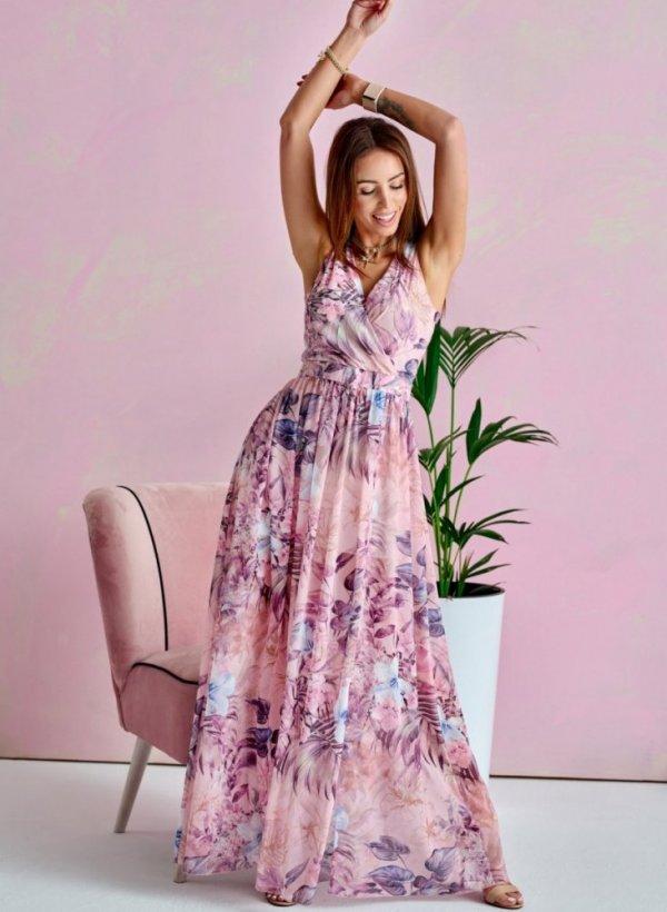 Sukienka Maxi Pink Flower II