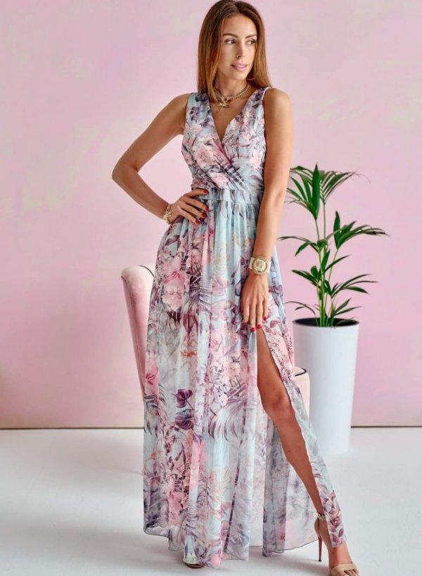 Sukienka Maxi Mint Flower II