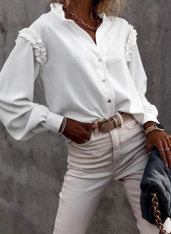 Bluzka elegancka Viva kremowa