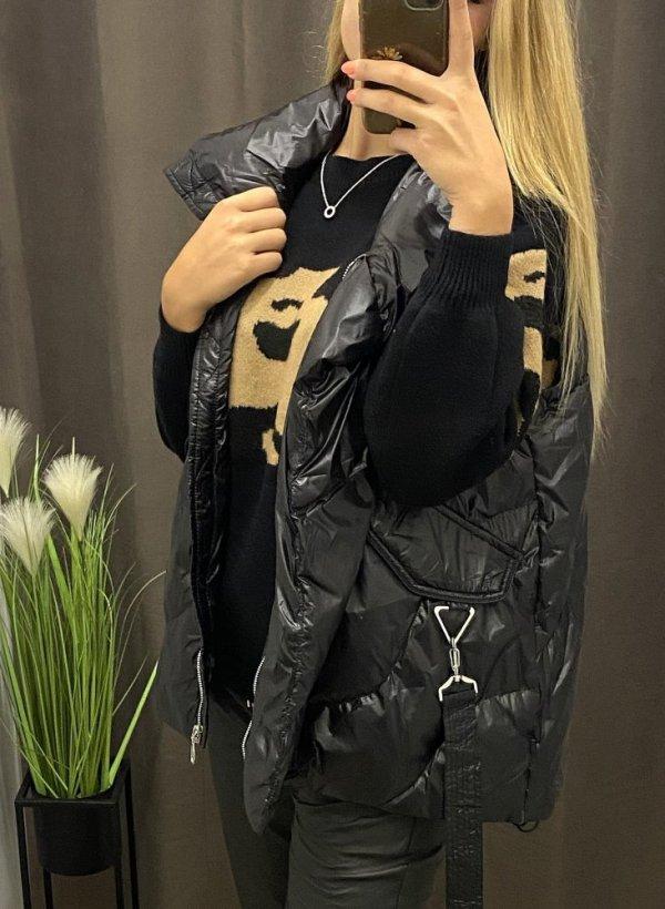 Kamizelka puchowa Pola czarna