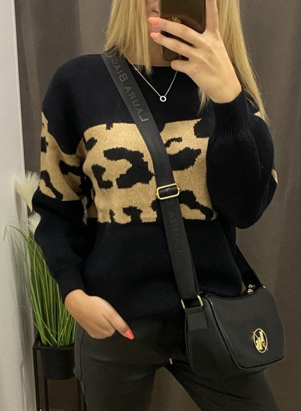 Sweter Pantera Ferva czarny