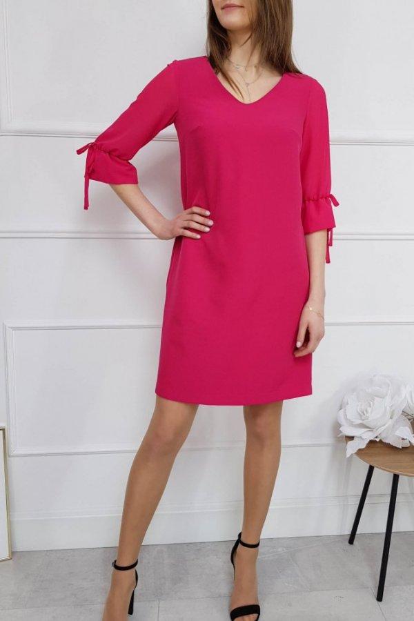 Sukienka z wiązanym rękawem Julliet amarant