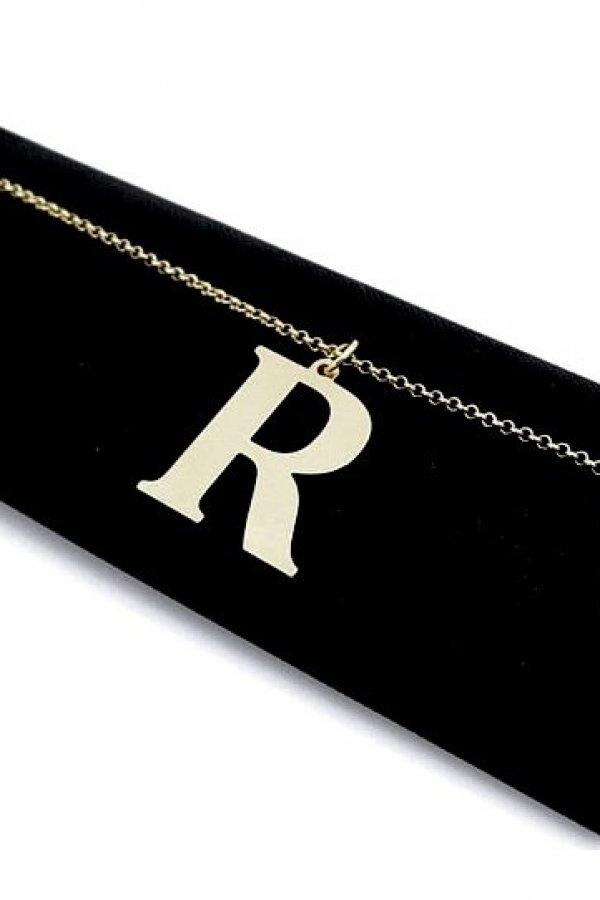 Naszyjnik Literka mała R