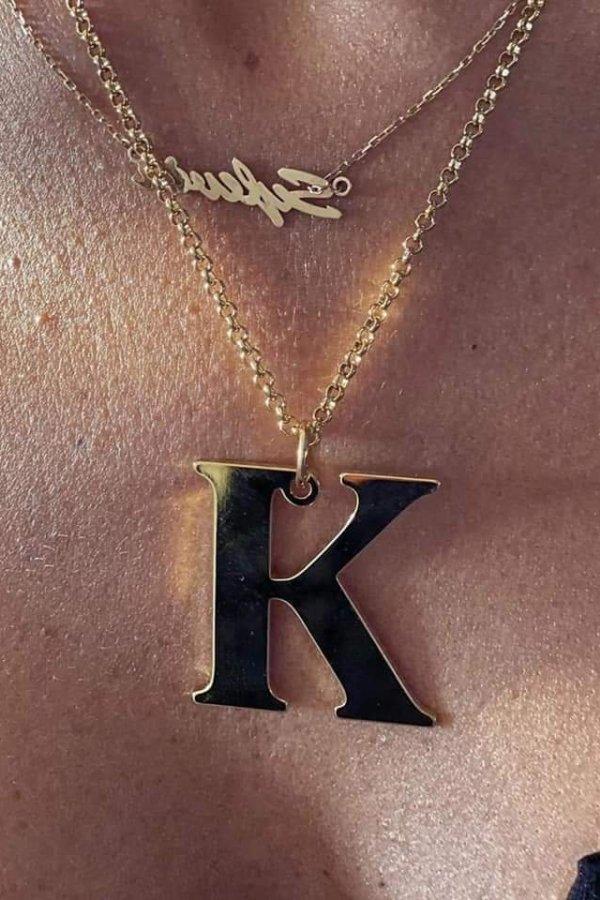 Naszyjnik Literka duża K