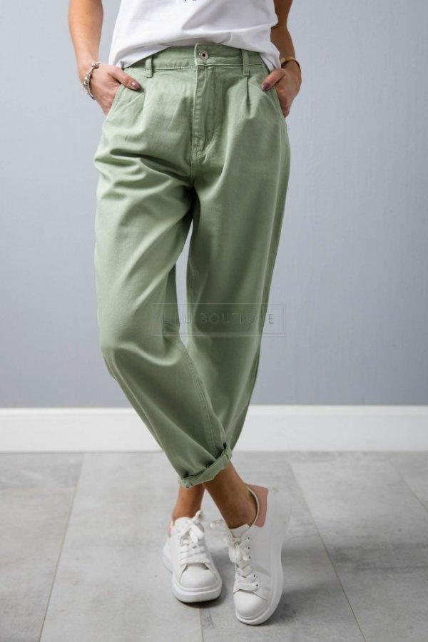 Spodnie Slouchy Adore green/pistacja