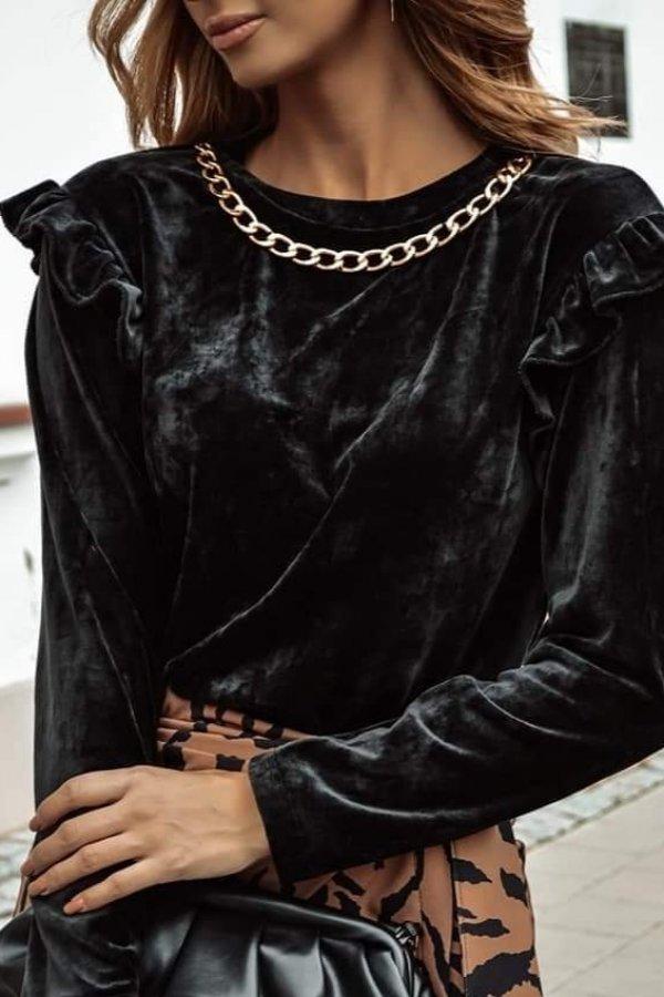 Bluzka z łańcuszkiem Ripoli czarna