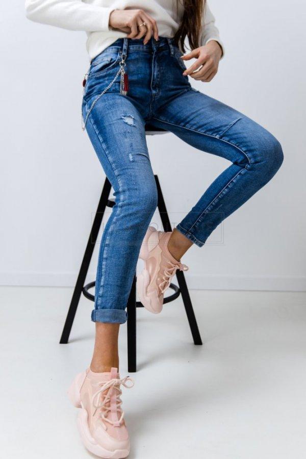 Spodnie jeansowe z łańcuszkiem Synthe blue