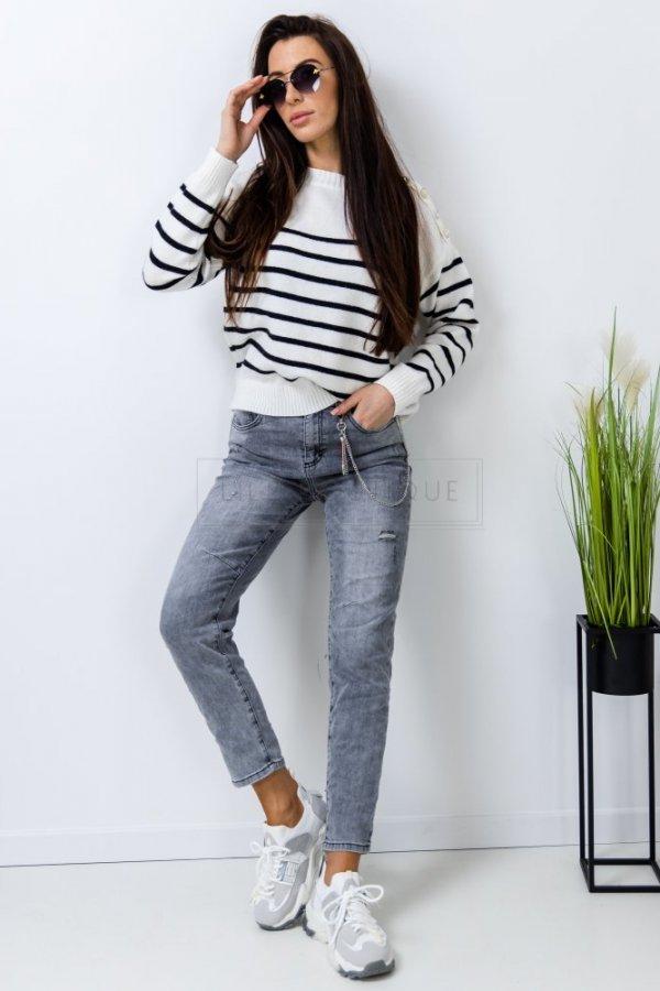 Spodnie jeansowe z łańcuszkiem Synthe grey
