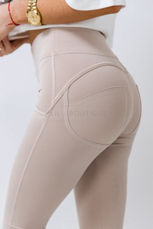 Spodnie/legginsy typu Push-up Molly beige