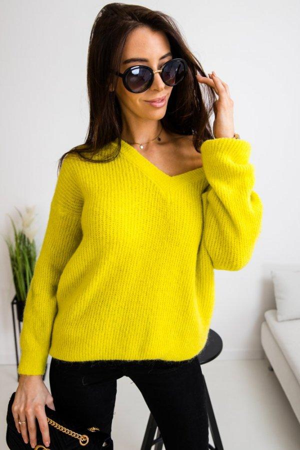 Sweter Cassi limonka