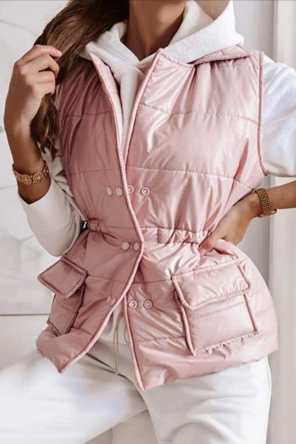 Kamizelka bezrękawnik pikowany Modena pink