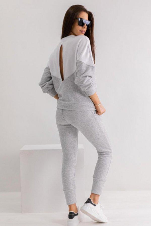 Komplet dresowy Collie grey/white