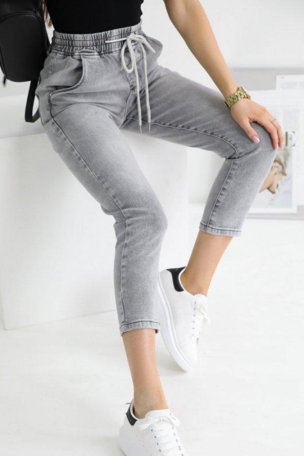 Spodnie jeansowe Carpi baggy szare