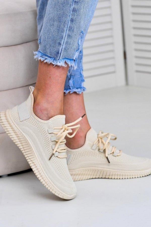 Sportowe buty na grubej podeszwie Modern beige