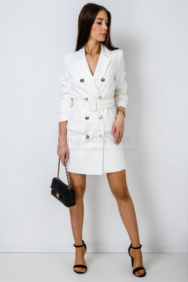Sukienka żakietowa Leyte kremowa