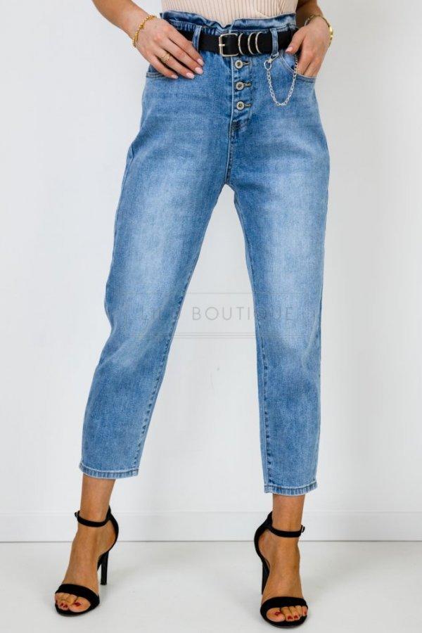 Spodnie jeansowe Surr retro z wysokim stanem blue
