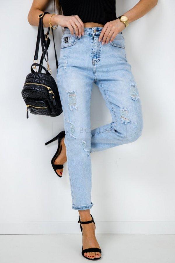 Spodnie jeansowe z dziurami Elroy light blue