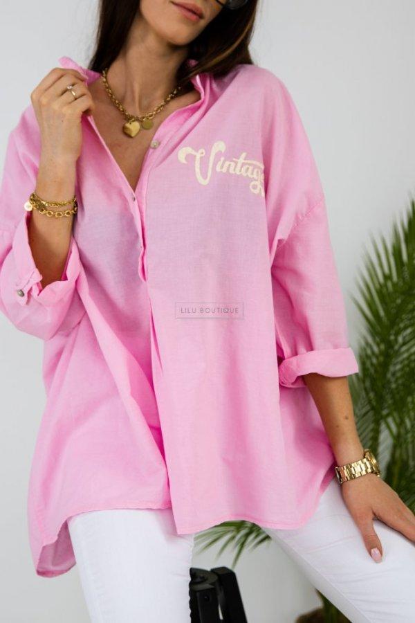 Koszula oversize Magnola pink