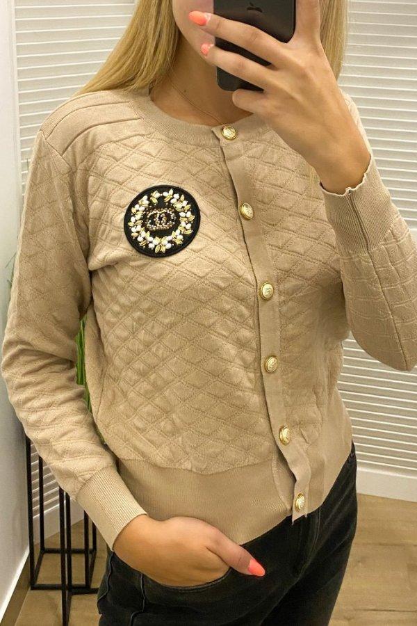 Bluza z tłoczonego materiału Pilou beż