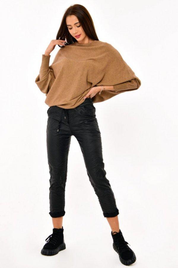 Spodnie z eco-skórki Bambini czarne