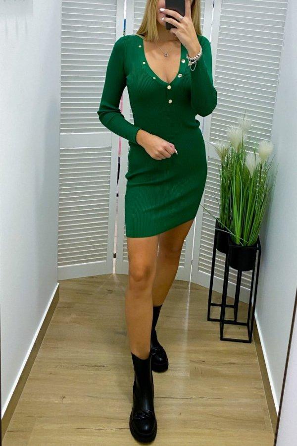 Sukienka sweterkowa Anett zieleń