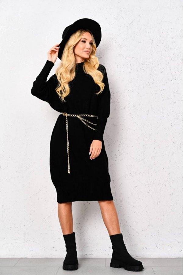 Sukienka sweterkowa Alma czarna