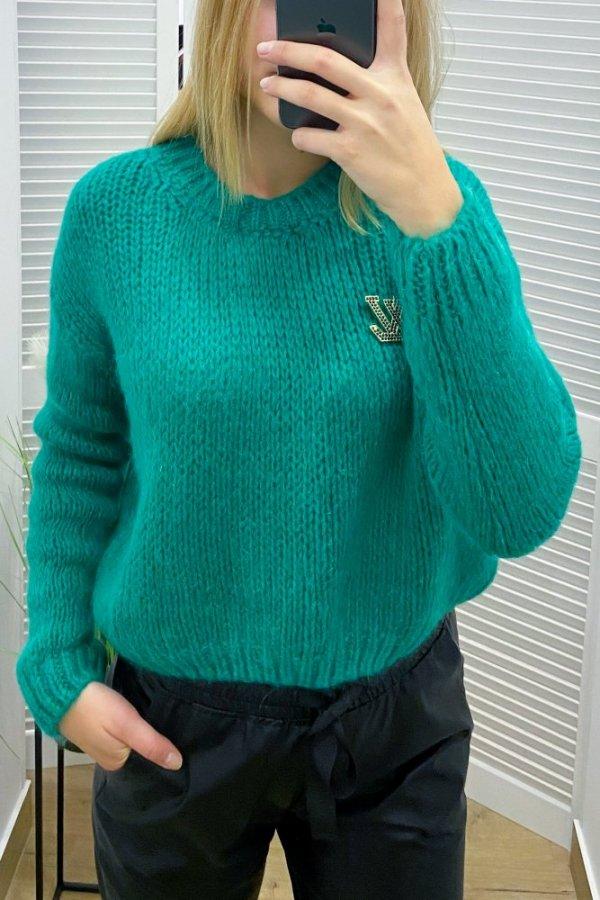 Sweter krótki Carrara zielony