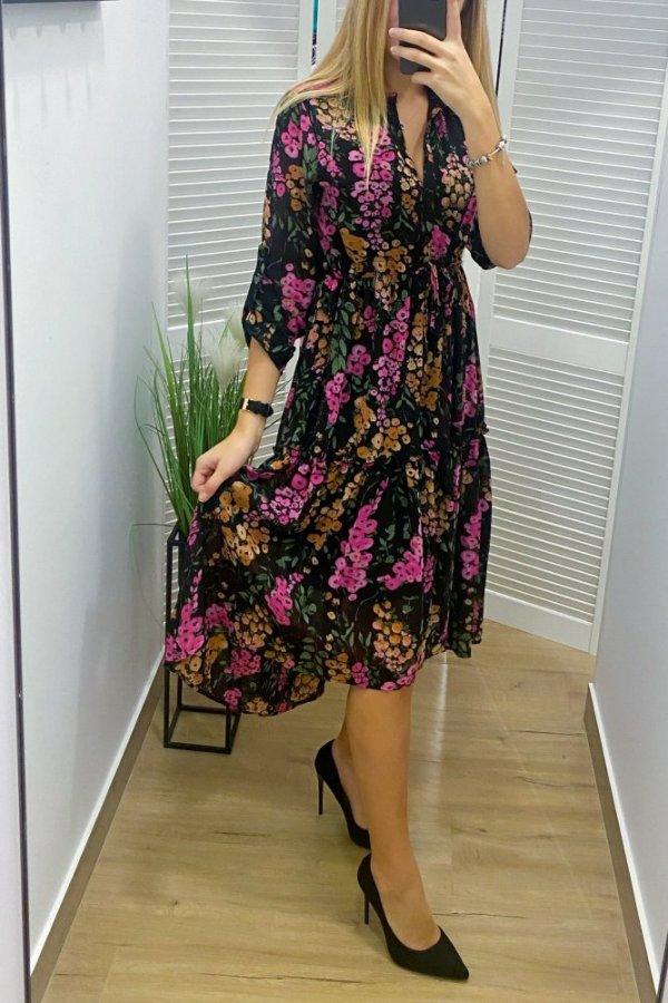 Sukienka Fontti w kwiaty multicolor