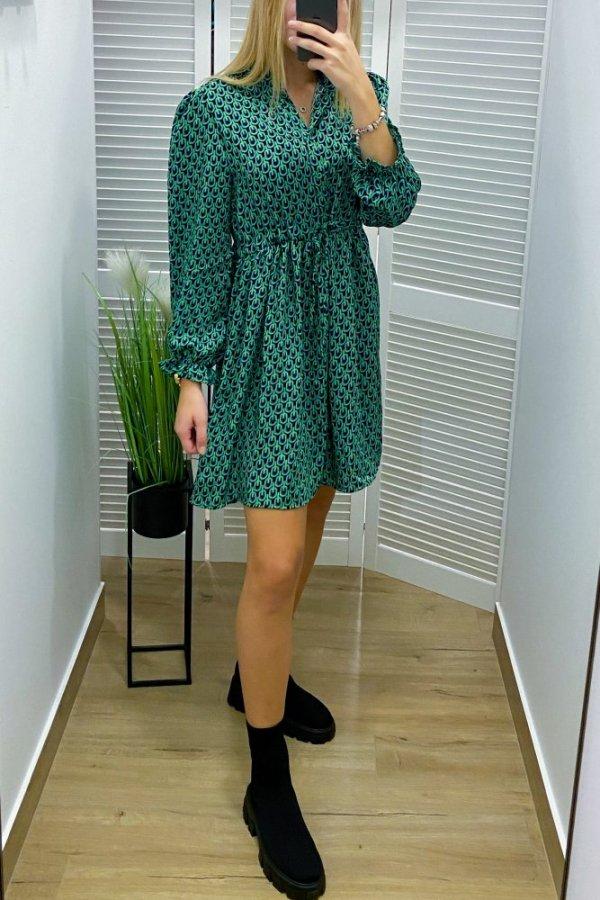 Sukienka Rawenna we wzory green